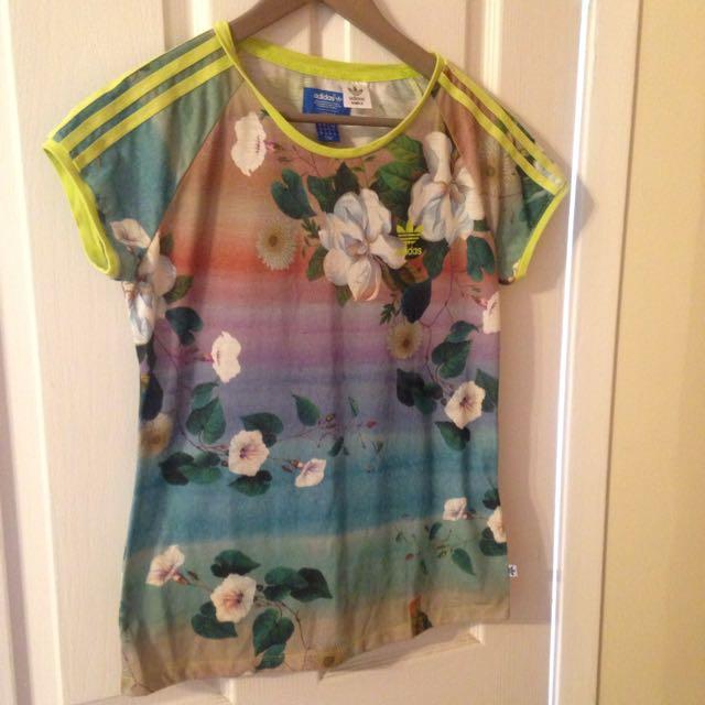 Adidas Floral Print Shirt