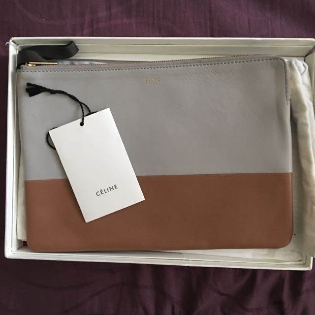 AUTHENTIC CELINE TWO TONE CLUTCH
