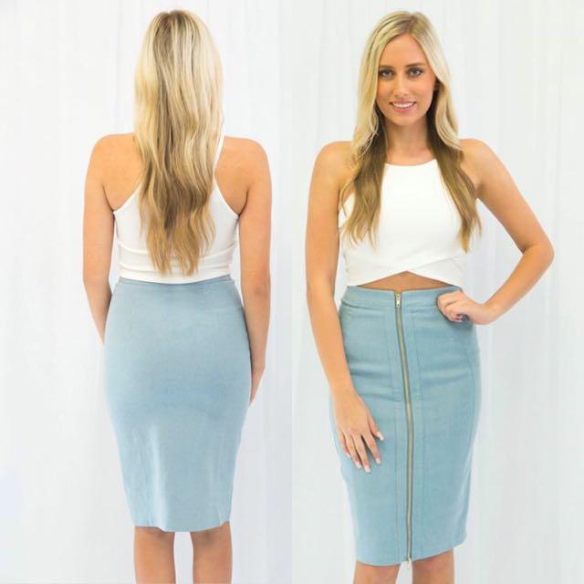 Blue Jay Midi Skirt