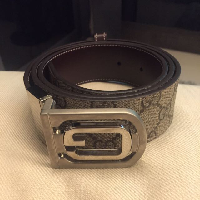 312965fcb Brand New Gucci Men's Leather Belt, Luxury on Carousell