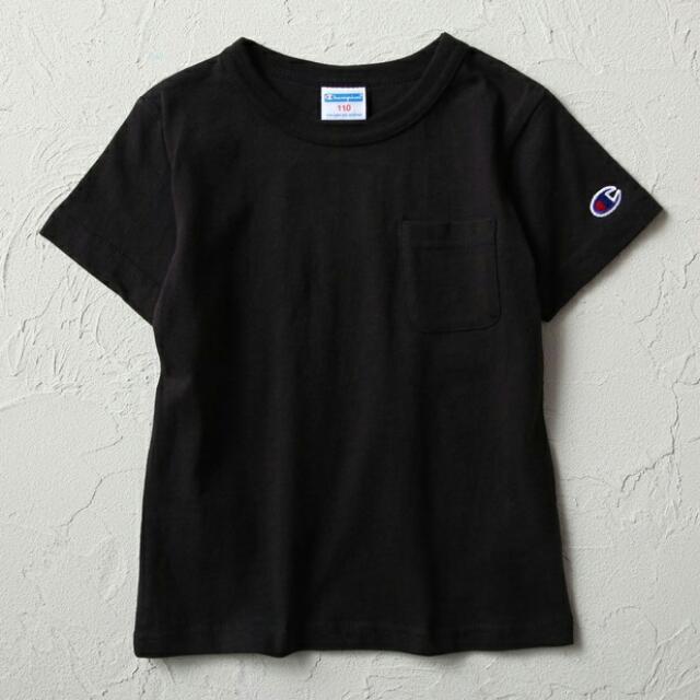 Champion 黑色口袋素t-shirt