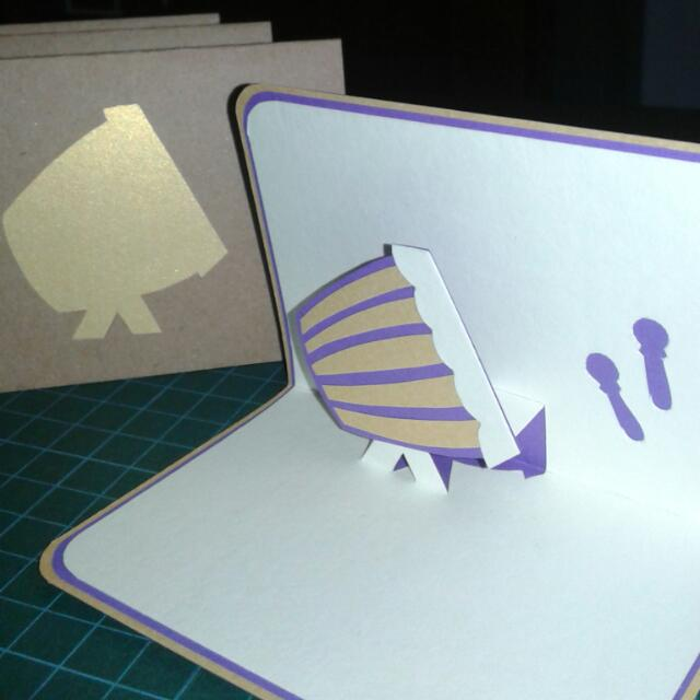Gema Takbir • Pop-Up Card • Gold Purple