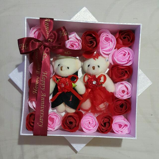 Giftbox Kado Ulang Tahun Kado Valentine Kado Anniversary Boneka