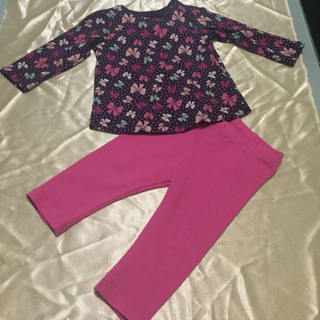 H&M Girl's Outfit Set Size 00, 1, 1 1/2
