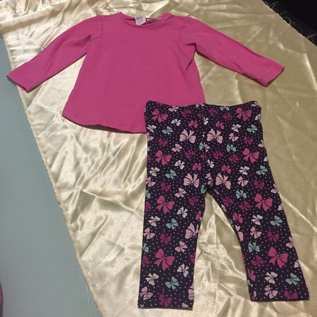 H&M Girl's Top And Pant Outfit Set