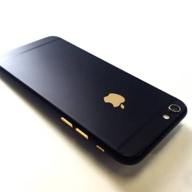 finest selection 90236 2e33c iPhone 6/6+/6s/6s+ Black/Black Gold Logo Gold Buttons Housing ...