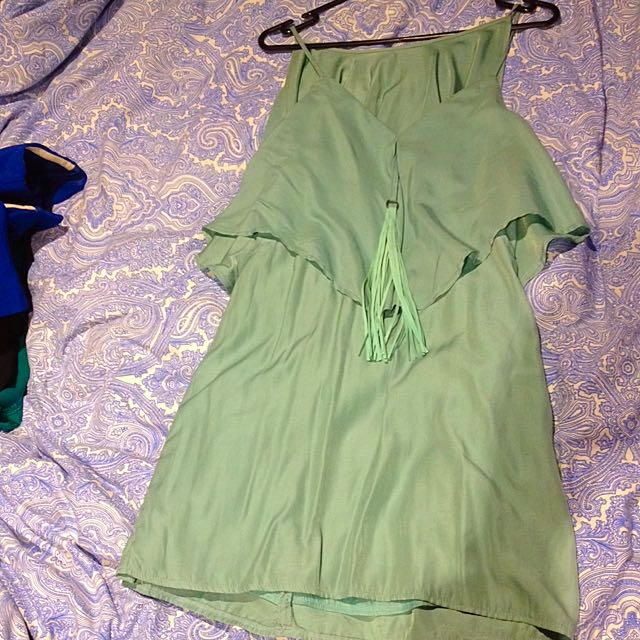 Mika And Gala Soft Green Lined Size 8 Dress
