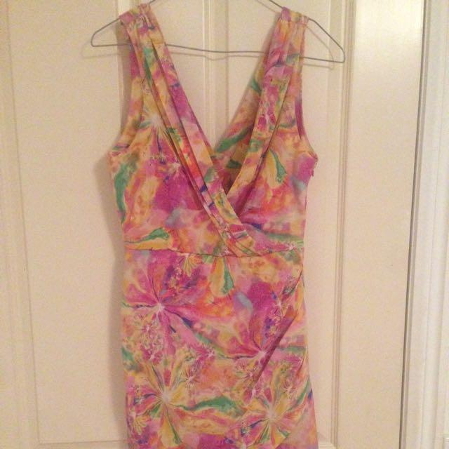 Multi Coloured Mini Dress