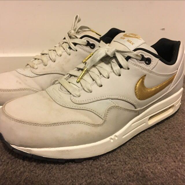 Nike air max white/gold