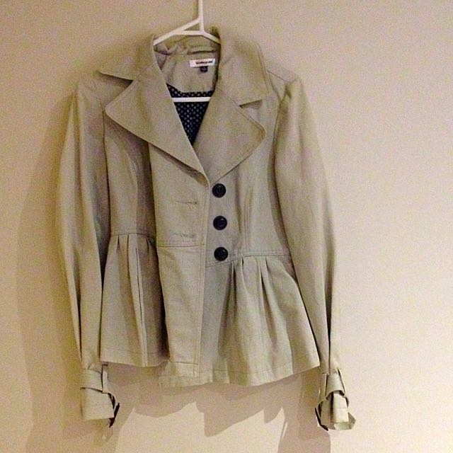 Pale Teal/grey Lined Winter Jacket
