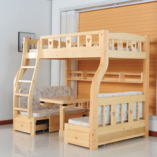 Po Children S Combination Bed Bedroom Set Study Table Furniture