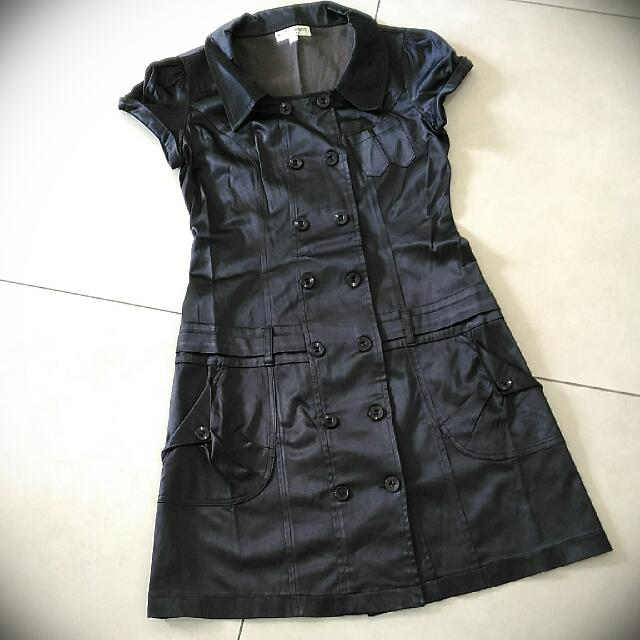 [Preloved] Double Button Trench Coat Dress