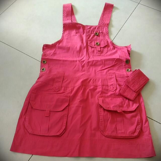 [Preloved] Pink Pinafore