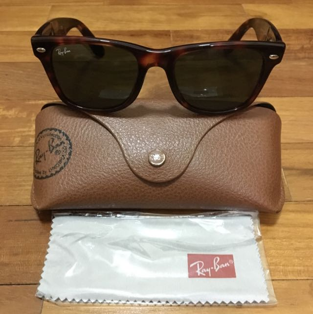 7cd80141aaefd RAY-BAN WAYFARER RB 2113 909 50 MM Sunglasses Tortoise with Flex Hinges New