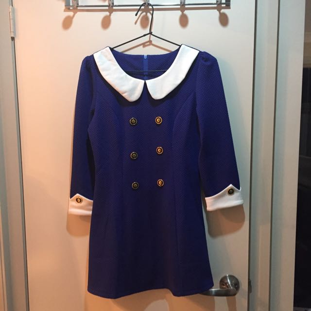 Royal Blue Vintage Dress Small
