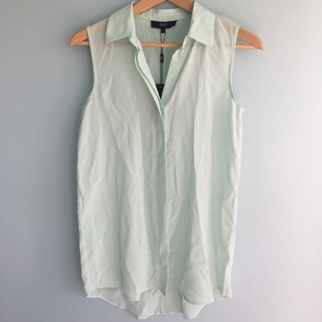 Saba Silk Pale Green Shirt