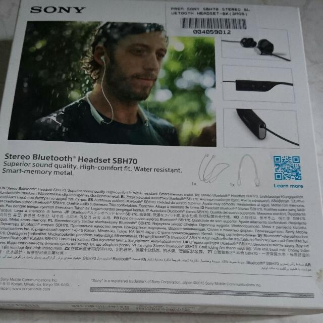Sony Waterproof Bluetooth Headset