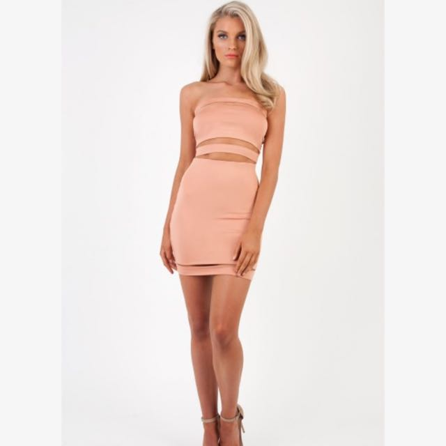 Zachary The Label Nude Crop And Skirt