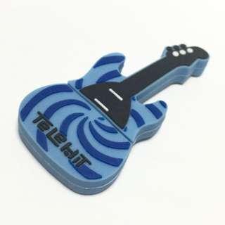 SALE! Blue Swirl Design Guitar 16GB USB Silicone Thumbdrive Smart Flash - Gift