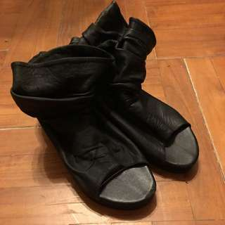 Leather Platform Shoes