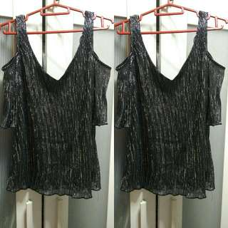Dorothy Perkins Cut-out Glittery Top