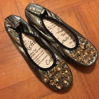 Crystal Flat Shoes