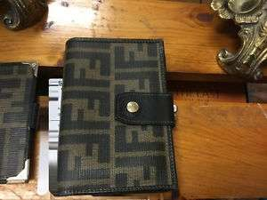 Authentic FENDI Italy Zucca Canvas and Leather