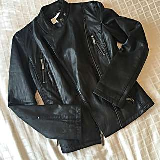 Michael Kors Leather Jacket, Size XS