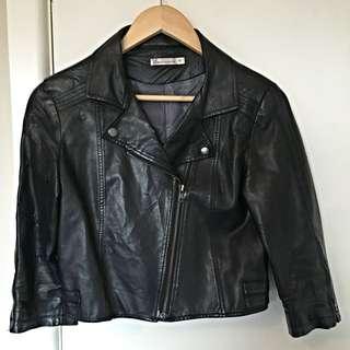 Black 'leather' Jacket
