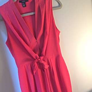 FOREVER 21 - Pink Sleeveless Button Up Dress