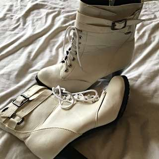 White Boots Size 9