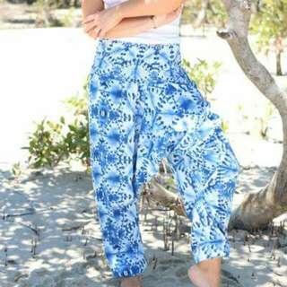 Hippie Pants Blue Harem Pants