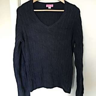 Large Navy Blue Sweater
