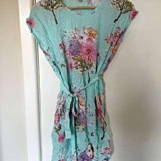 Floral Blue/green Dress