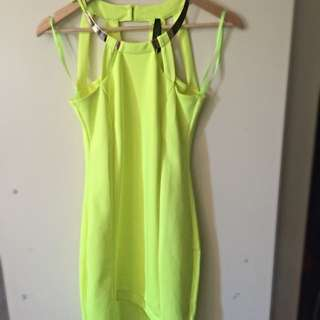 Neon Yellow Bodycon Dress