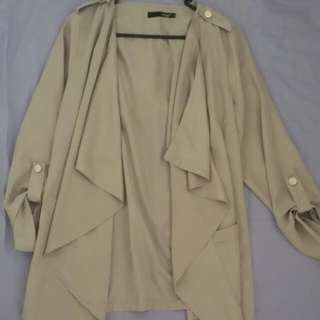 Light Brown Waterfall Jacket