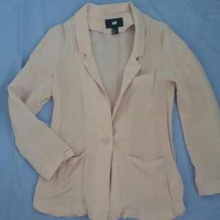 H&M Lightweight Blush Pink Blazer