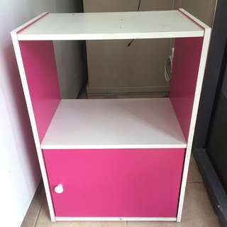 Pink And White Wood Cupboard