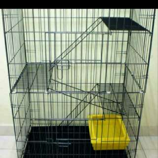 3 Tier Cat Cage PROMO FREE DELIVERY