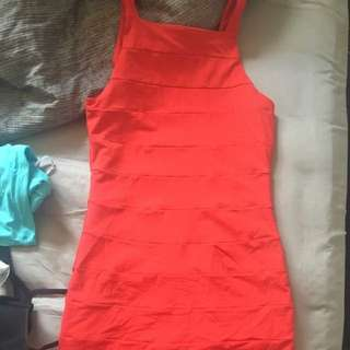 Red Kookai Dress Size 1