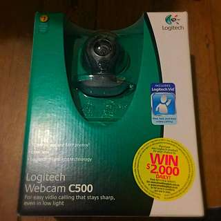 **PRICE DROPPED**Logitech HD Webcam C500 WITH BOX