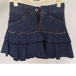 Denim Flare Skirt