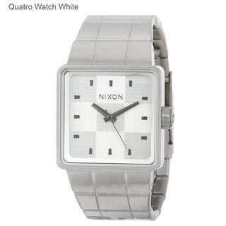 Nixon Quarto Watch White Stainless Steel Authentic For Men Brand New In Box