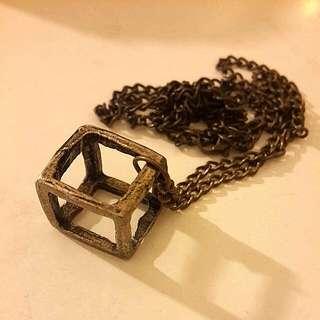 Long Cube Necklace