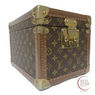 SALE Authentic LOUIS VUITTON Boite Flacons Monogram trunk Brown 83-2 6.04