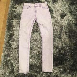 Pale Purple High waisted Jeans