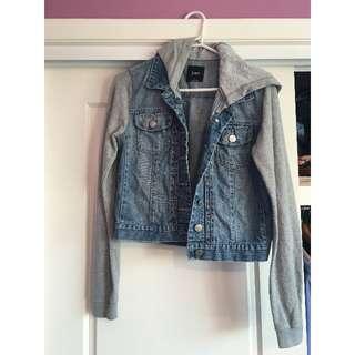Sports girl grey and denim jacket