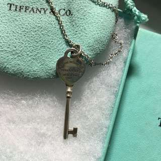 Authenic Tiffany & Co Key Necklace