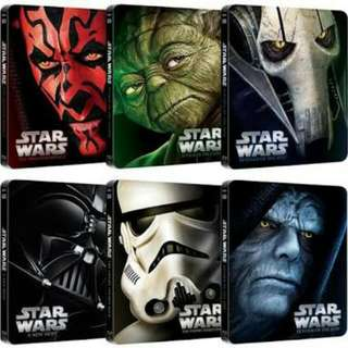 Star Wars Limited Edition Bluray Steelbooks Set