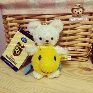 【Wenwens】日本帶回 迪士尼 unibearsity 大學熊 小美人魚 小比目魚 變裝 布偶 手機 吊飾 單售價
